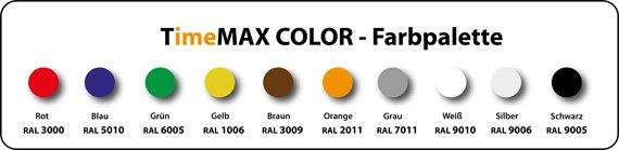 TimeMAX COLOR Farbpalette RAL-1