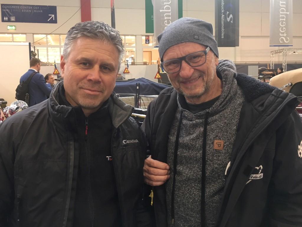 Wiedererkannt nach über 20 Jahren: Links unser Chef Gerd Cordes und rechts Titus Dittmann aus Münster.